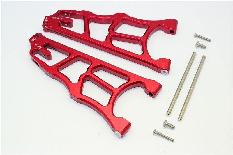 ALUMINUM FRONT LOWER ARMS - 1PR red