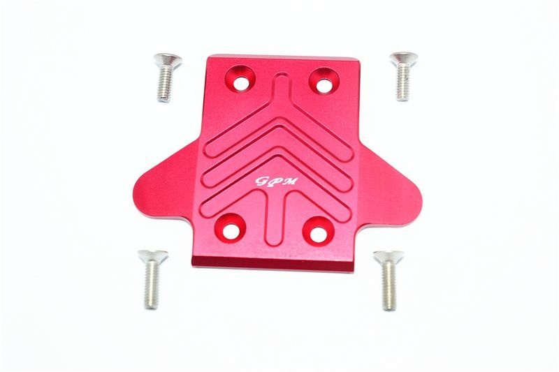 ALUMINUM REAR CHASSIS PROTECTION PLATE -5PC SET red