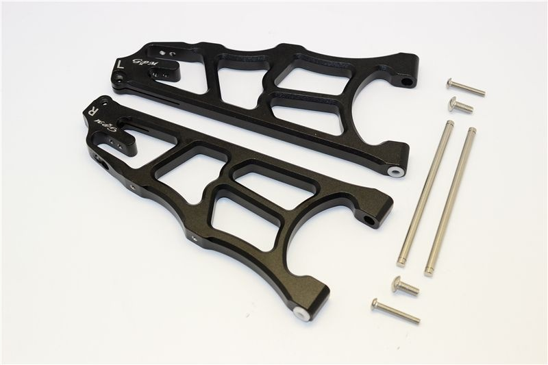 ALUMINUM FRONT LOWER ARMS - 1PR black