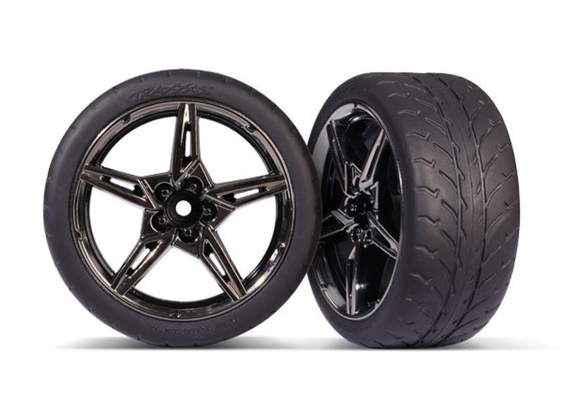 Response-Reifen auf Felge hi 1.9 Split-Spoke schwarz/chrome