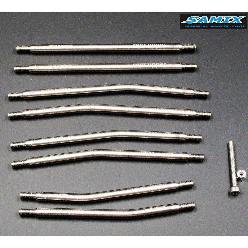 SAMIX SCX10 313mm high clearance titianium link kit 8pcs