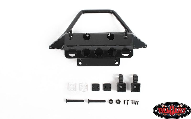 Rough Stuff Metal Front Bumper w/ Flood Lights for Axial