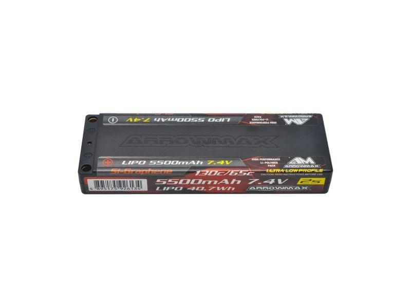 AM Lipo 5500mAh 2S TC Ultra Low Profile - 7.4V 65C Continuou
