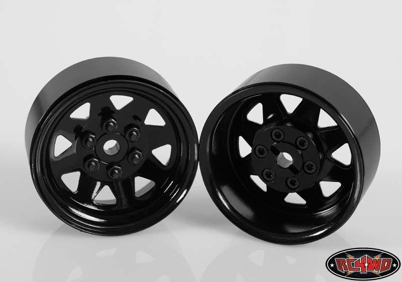 6 Lug Wagon 1.9 Steel Stamped Beadlock Wheels (Black) (4)