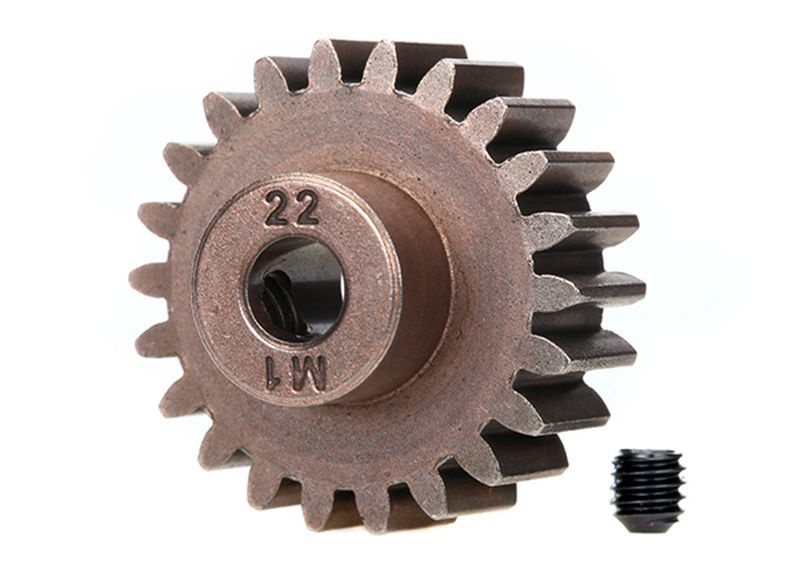 Gear, 22-T pinion (1.0 metric pitch) (fits 5mm shaft)/ set s