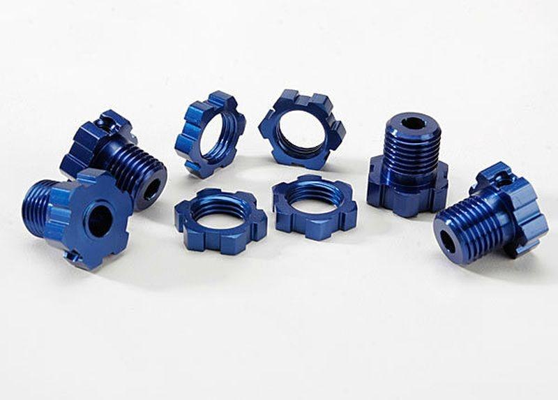 Radmitnehmer und Muttern 17mm blau