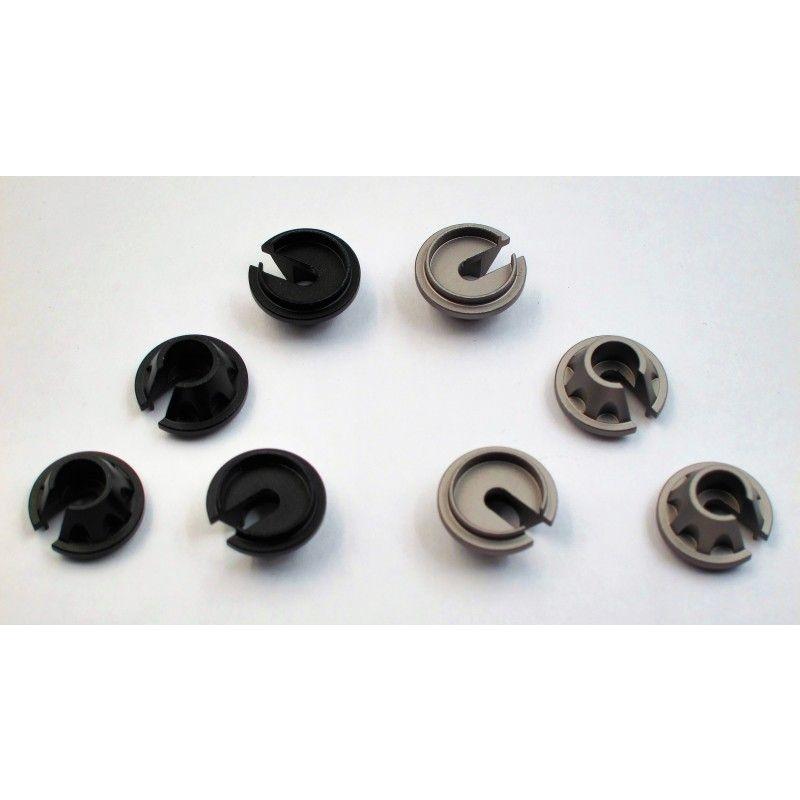 SAMIX SCX10 alum black shock spring under cap 4pcs