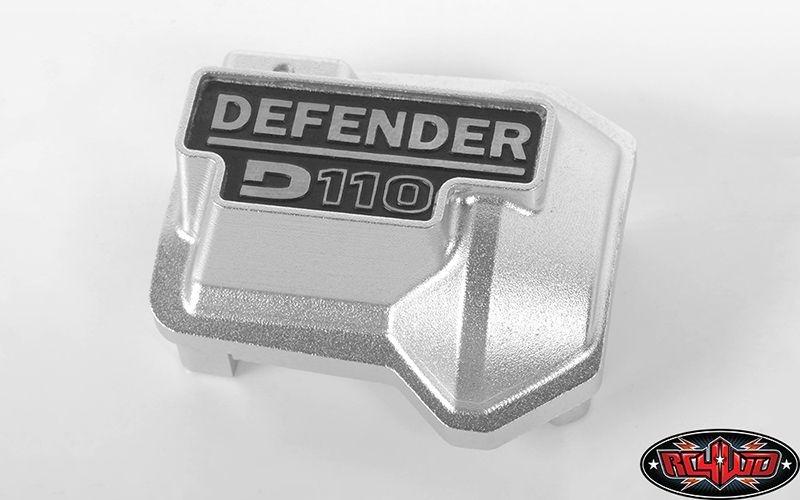 SLVR Defender D110 Diff Cover for Traxxas TRX-4 (Silver)