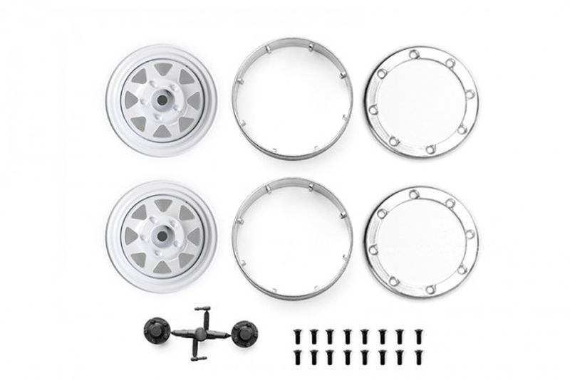 ALUMINUM WHEEL 1.9 FOR CRAWLERS (DESIGN A) -24PC SET white