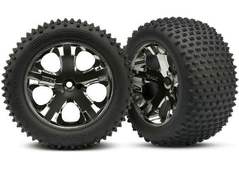 Reifen verklebt auf Felge
