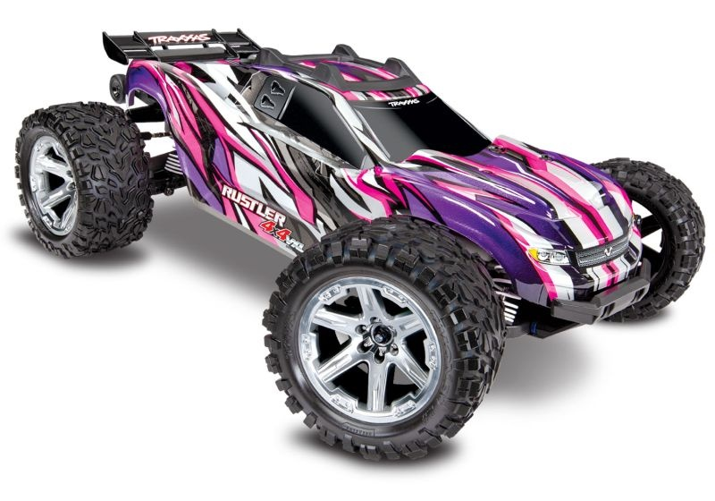 TRAXXAS Rustler 4x4 VXL pink RTR ohne Akku/Lader