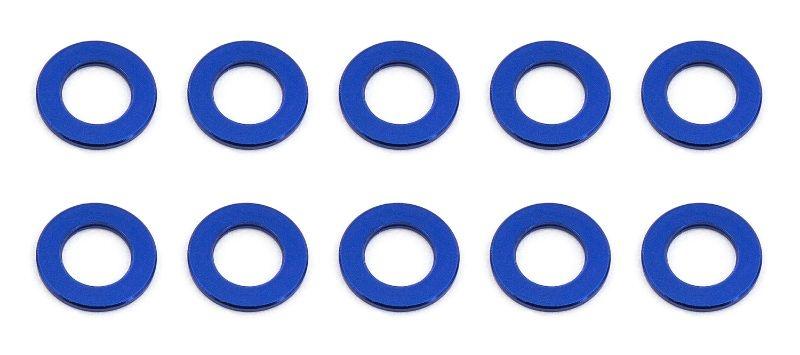Kugelkopf Scheiben 5.5x0,5mm, Alu blau (10)