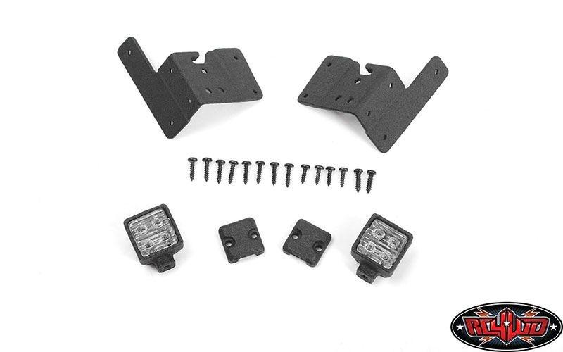 Pillar Lights for Axial 1/10 SCX10 III Jeep JLU Wrangler