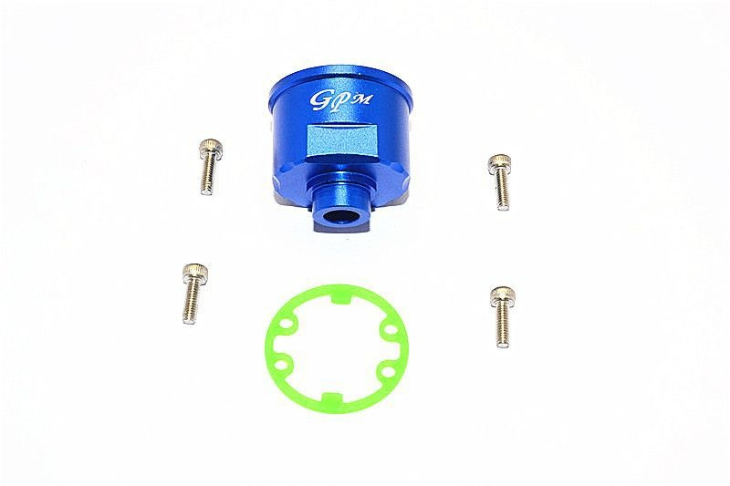 ALUMINIUM FRONT/REAR DIFFERENTIAL CARRIER -1PC SET blue