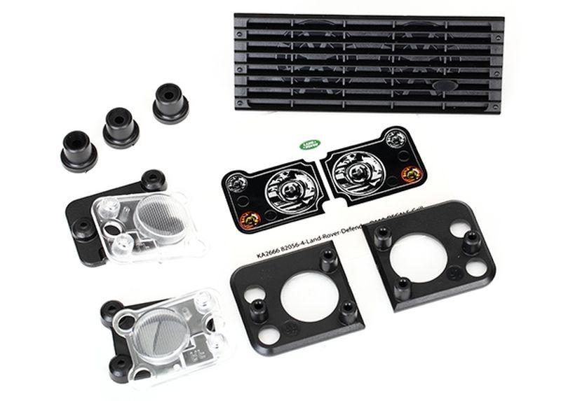 Grill, Land Rover Defender +Halterung (3) Dach-Lichtergehäus