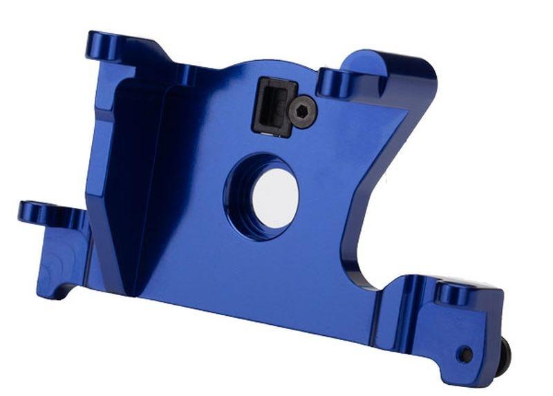 Motor Halterung 6061-T6 Alu (blau eloxiert)