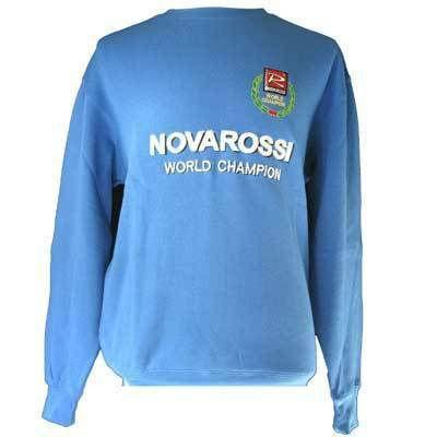 SLVR NOVAROSSI blau SweatShirt, lang Ärmel, mit Stick