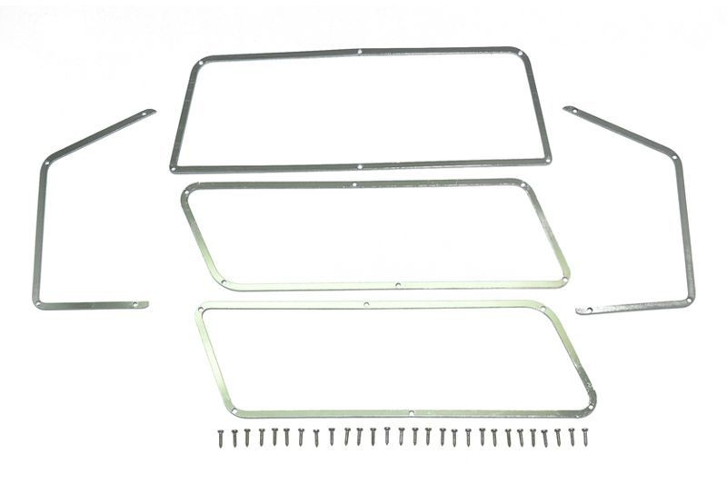 SCALE Acs stnl-steel WINDOW FRAME TRX-4 FORD BRONCO-33PCS