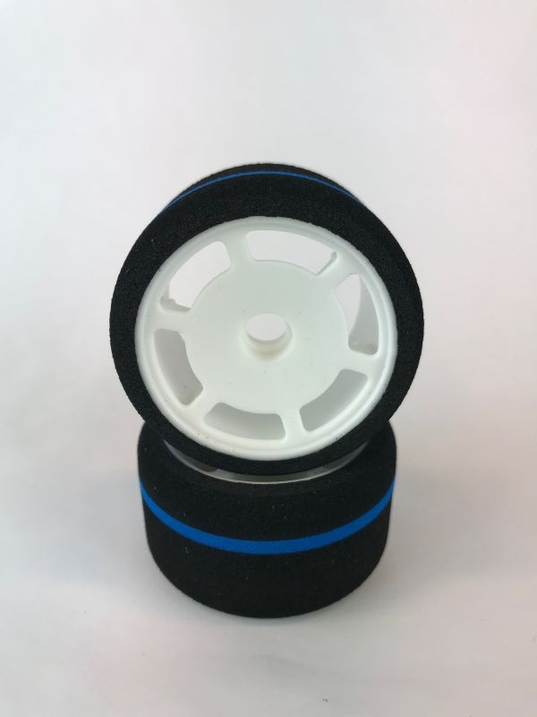 HSPEED 1/12 Foam Tire front Blue Stripe A38