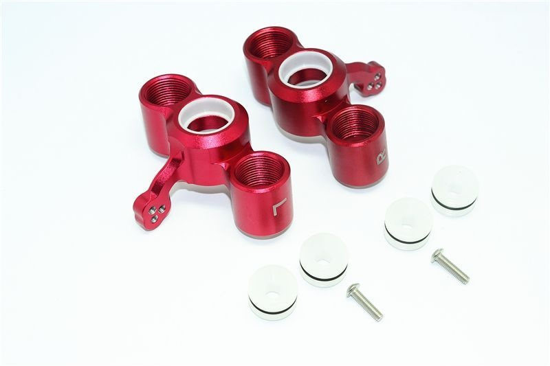 ALUMINUM FRONT KNUCKLE ARMS-8PC SET red