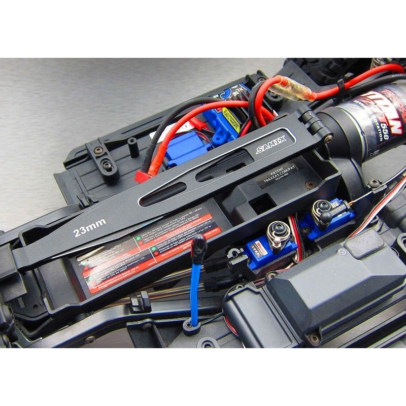SAMIX TRX-4 alum. black Battery hold-down plate