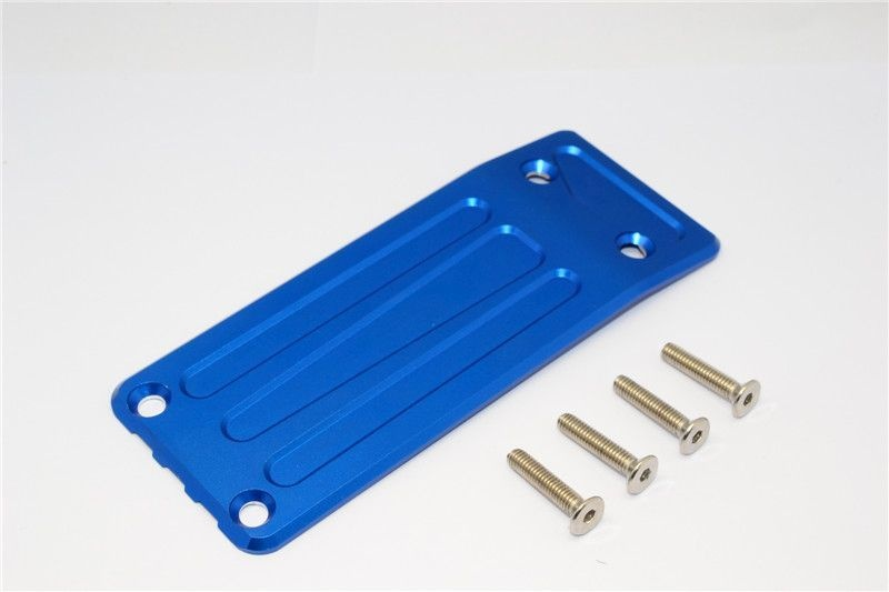 ALUMINIUM FRONT SKID PLATE - 1PC SET blue