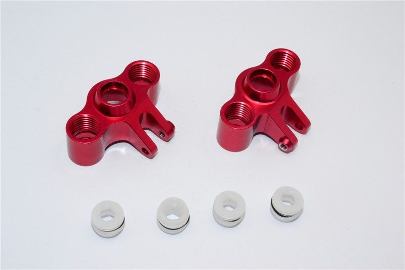 ALLOY FRONT/REAR KNUCKLE ARM - 1PR SET red