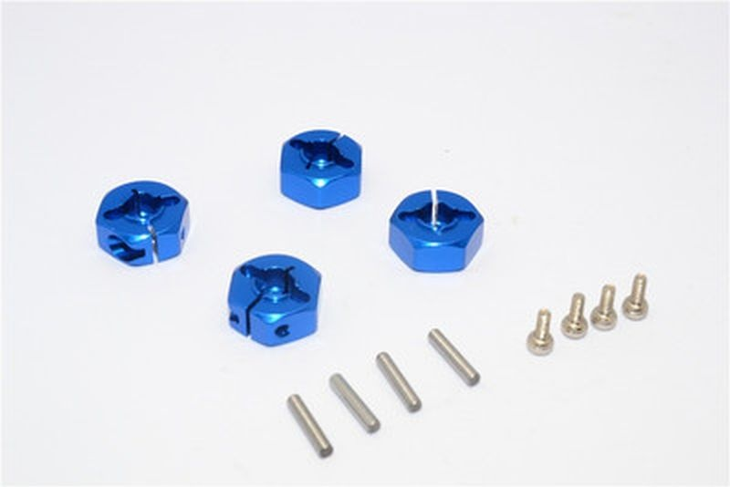 ALLOY WHEEL HEX DRIVE ADAPTOR WITH PINS & SCREWS - 4PCS SET