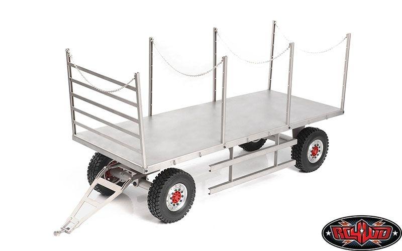 4 Wheel Steel Stake Trailer