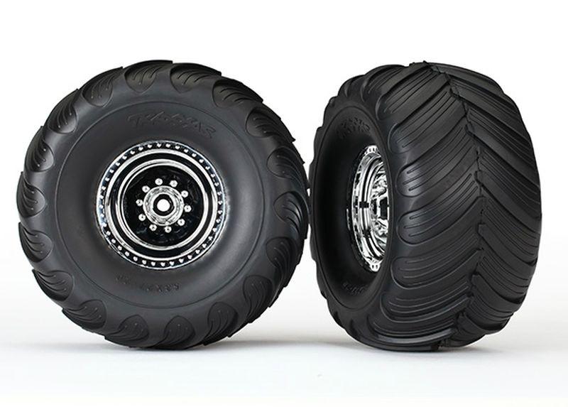 Tires & wheels, assembled, glued (chrome wheels, Terra Groov