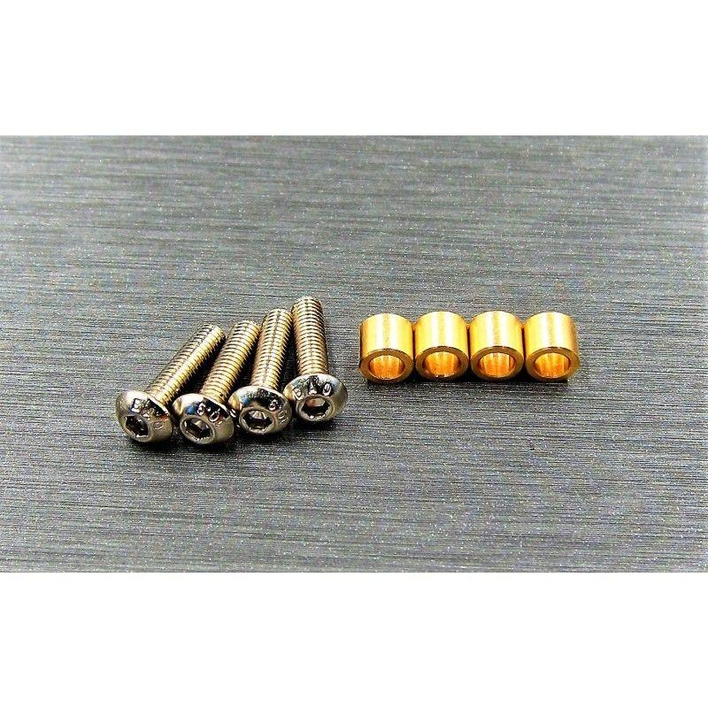 SAMIX TRX-4 brass knuckle busings set (include 4 screw)