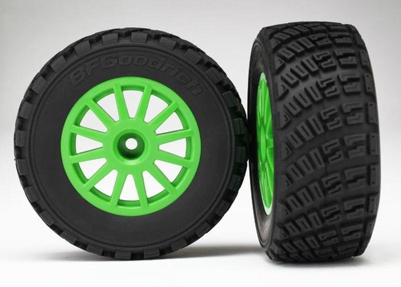 Reifen auf Felge grün