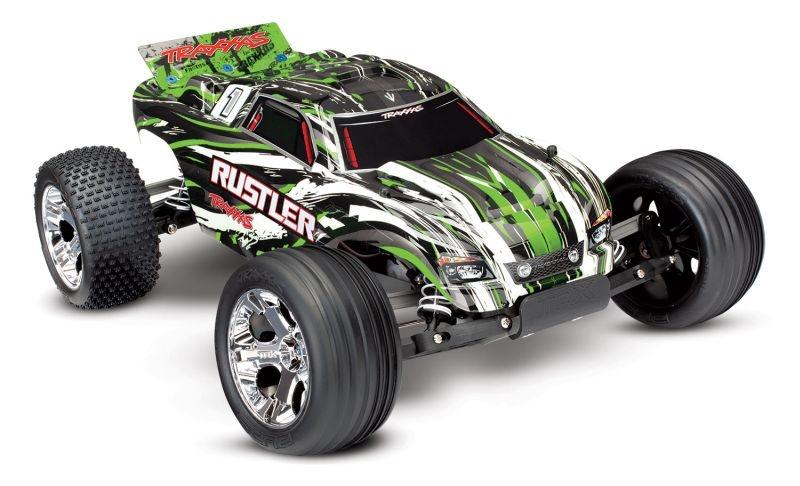TRAXXAS Rustler grün RTR +12V-Lader+Akku