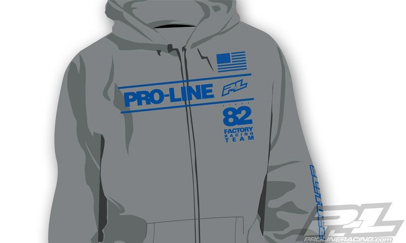SLVR Pro-Line Factory Team grau Zip-Up Hoodie