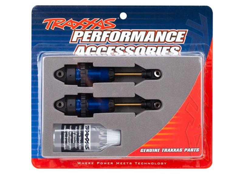 Dämpfer GTR L blau eloxiert, PTFE-coated +TiN Kolbenstangen