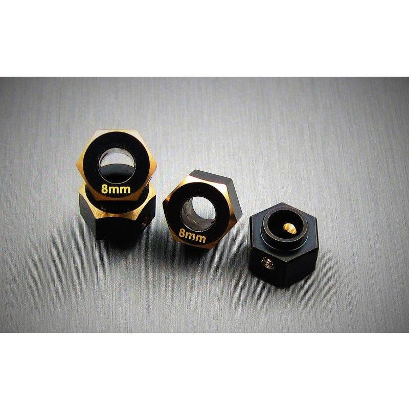 SAMIX TRX-4 brass hex adaptar (8mm)