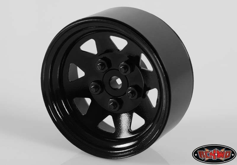 5 Lug Wagon 1.9 Single Steel Stamped Beadlock Wheel (Black)