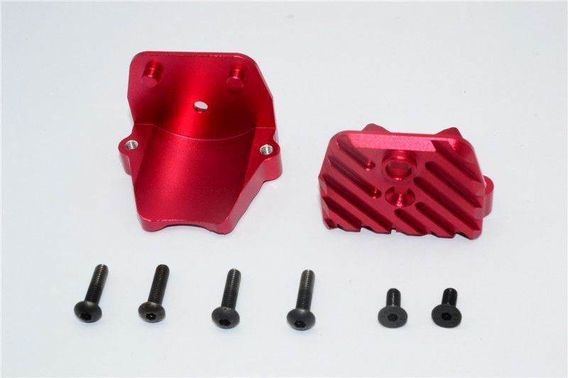 ALUMINIUM MOTOR HEATSINK MOUNT - 1SET red