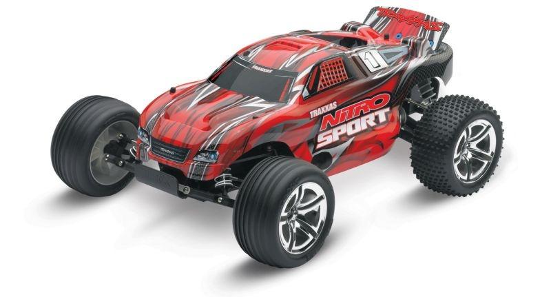 TRAXXAS Nitro-Sport rot RTR SE 2.4GHz +12V-Lader