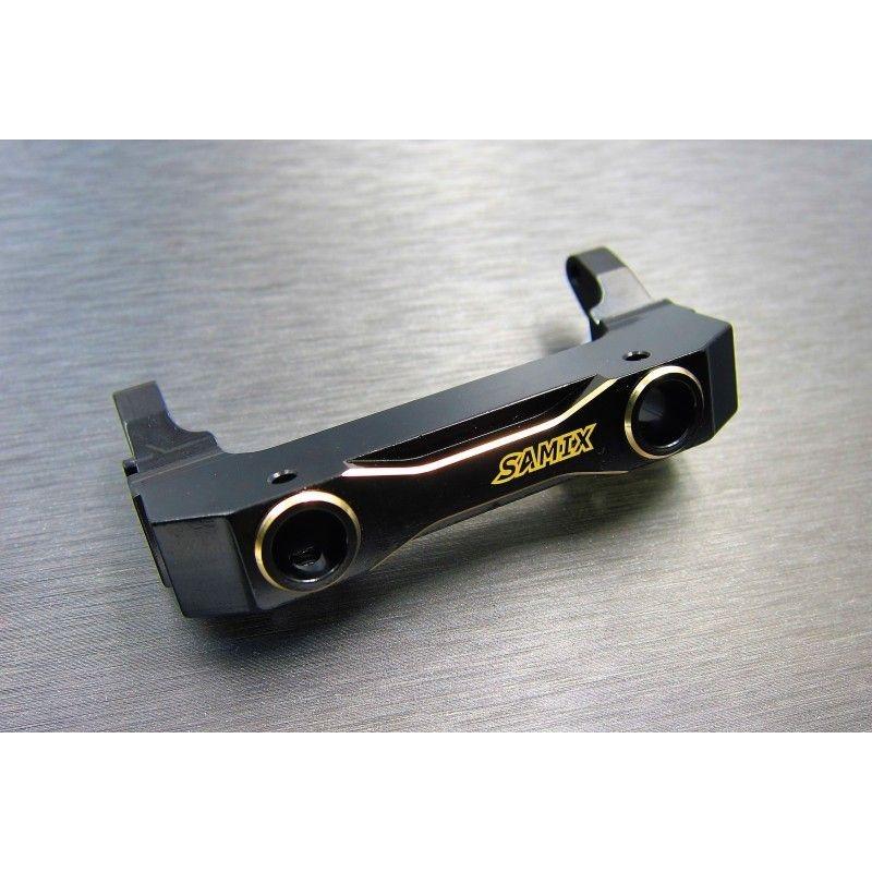 SAMIX SCX10-3 brass front bumper mount set