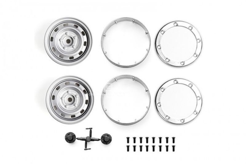 ALUMINUM WHEEL 1.9 FOR CRAWLERS (DESIGN B) -24PC SET silver