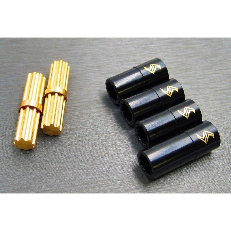 SAMIX SCX10-3 brass inner & outer drivershaft combo set