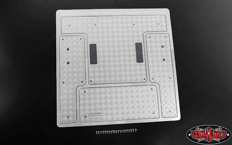 Steel Rear Bed Diamond Plates for RC4WD Gelande II
