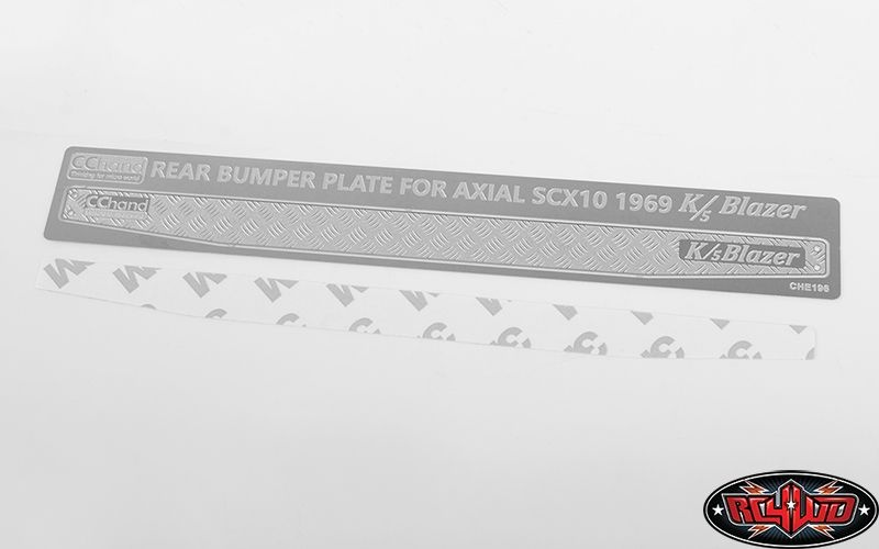 Rear Bumper Diamond Plates for Axial SCX10II 1969ChevyBlazer