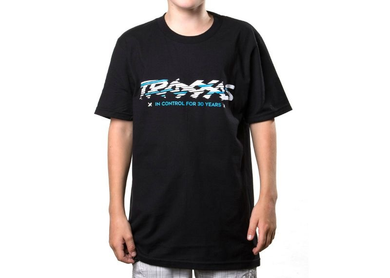 BLACK SLICED TEE YS