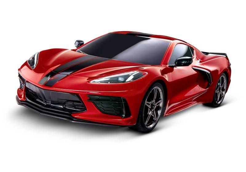 TRAXXAS 4Tec 3.0 Corvette C8 rot RTR ohne Akku/Lader