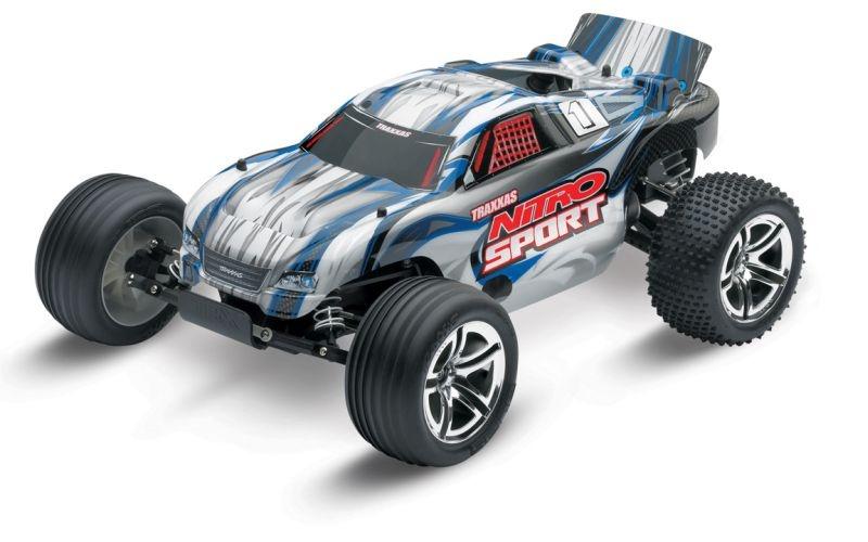 TRAXXAS Nitro-Sport blau RTR SE 2.4GHz +12V-Lader