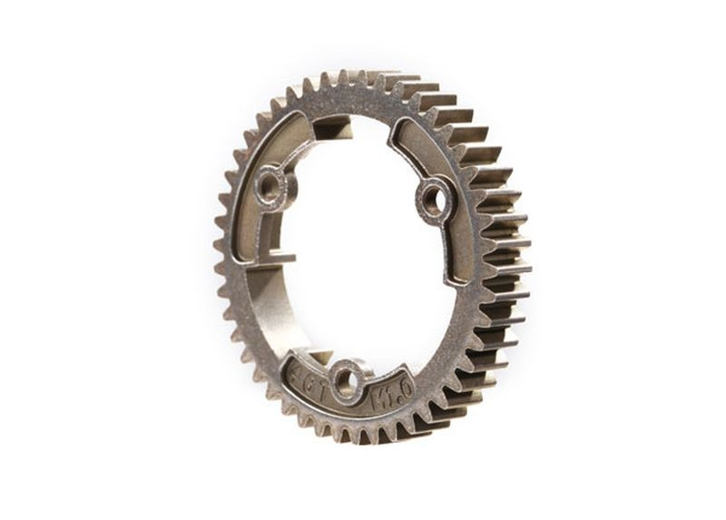 Spur gear, 46-tooth, steel breite Version (1.0 metric pitch)