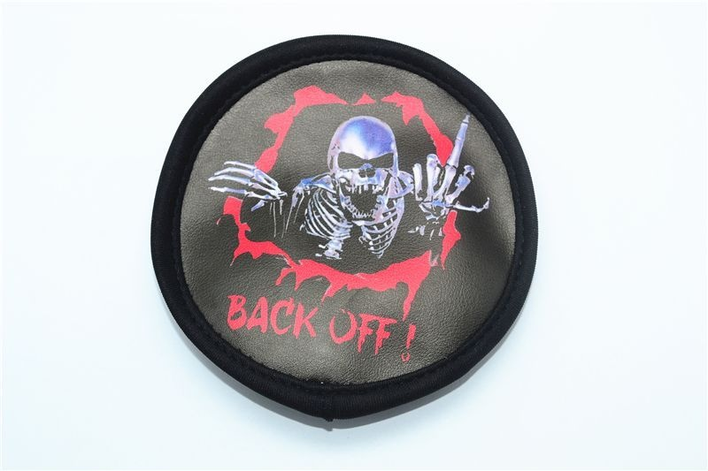 SKELETON PRINT SPARE TIRE COVER-1PC black
