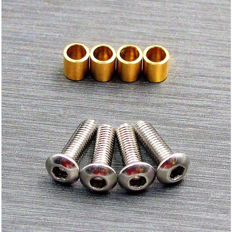 SAMIX SCX10-3 brass knuckle busings set (include 4 screw)